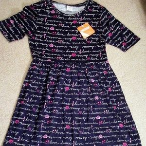 GYMBOREE Navy Love Music Dance Dress sz M 7-8 NWT